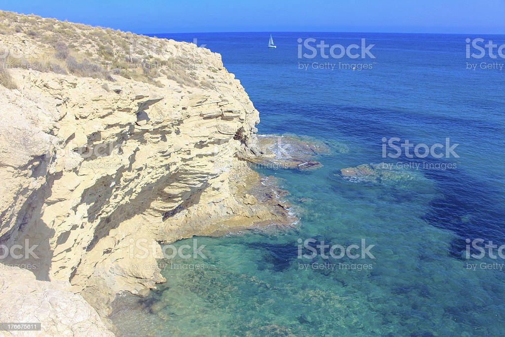 Sea Rock in Spain royalty-free stock photo