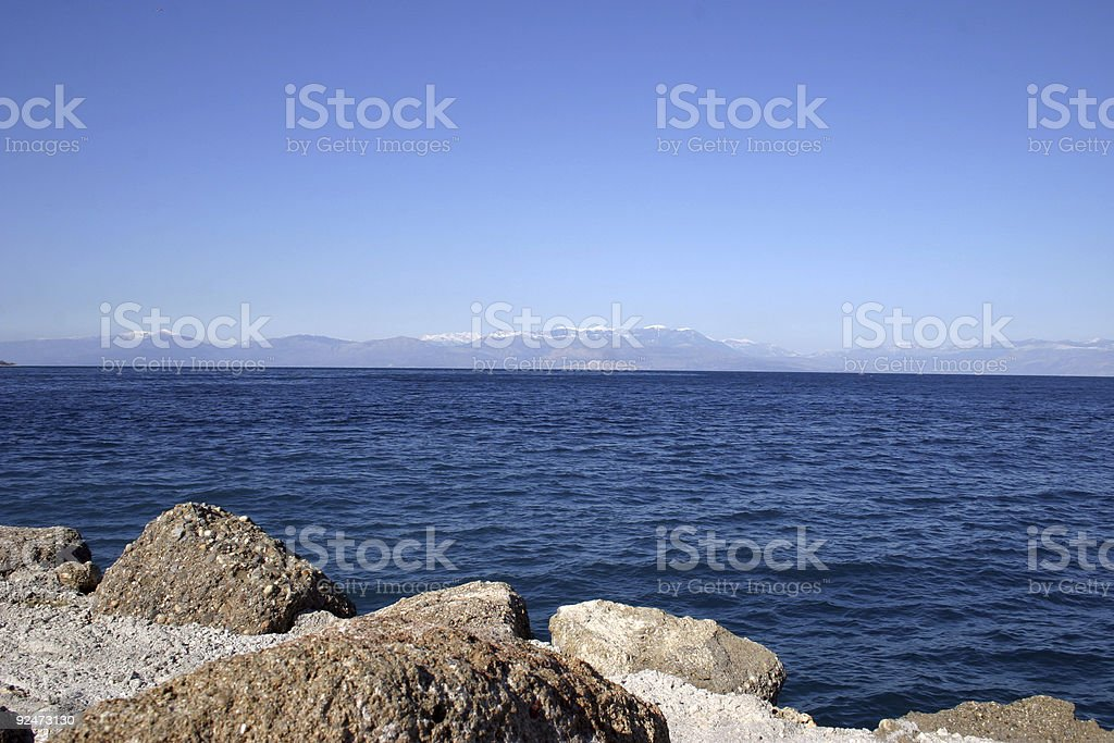 Sea rocks royalty-free stock photo