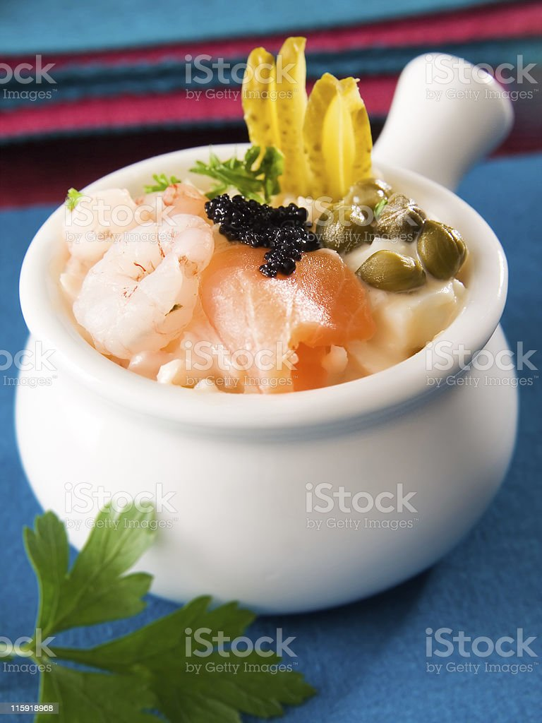 Sea salad royalty-free stock photo