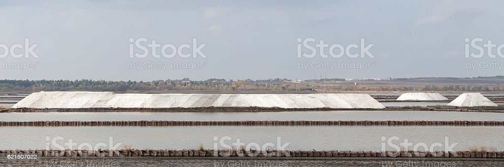 Sea Salt Extraction Salines foto stock royalty-free