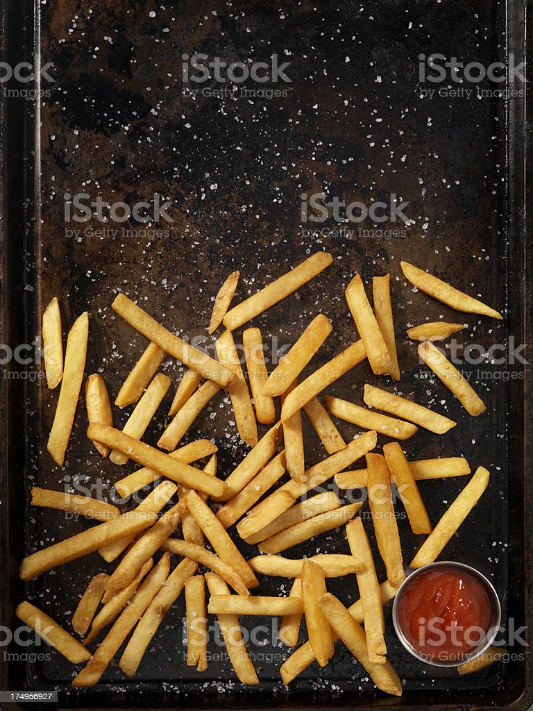 Sea Salt French Fries royalty-free stock photo
