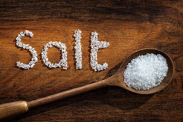 sea salt - sodium stock pictures, royalty-free photos & images