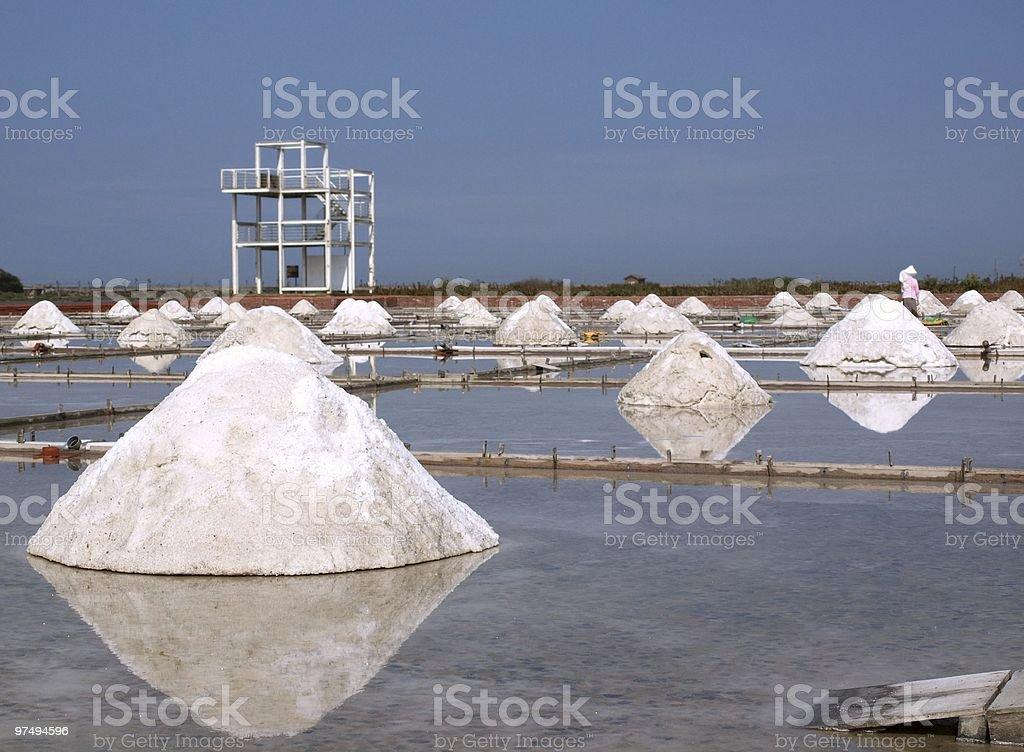 Sea Salt Production royalty-free stock photo