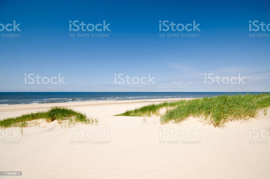 Sea, Sand and Dunes stock photo