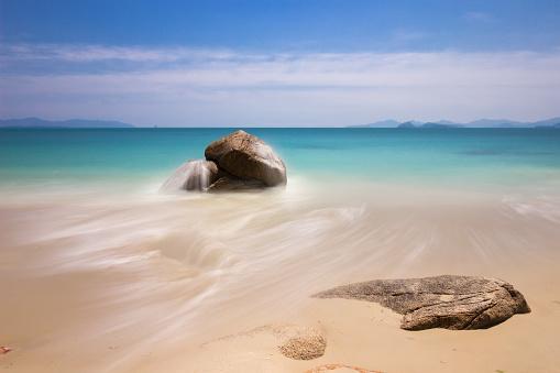 Sea, sand and rocks