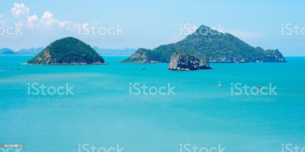 Sea scenery of Khao Sam Roi Yot National Park stock photo