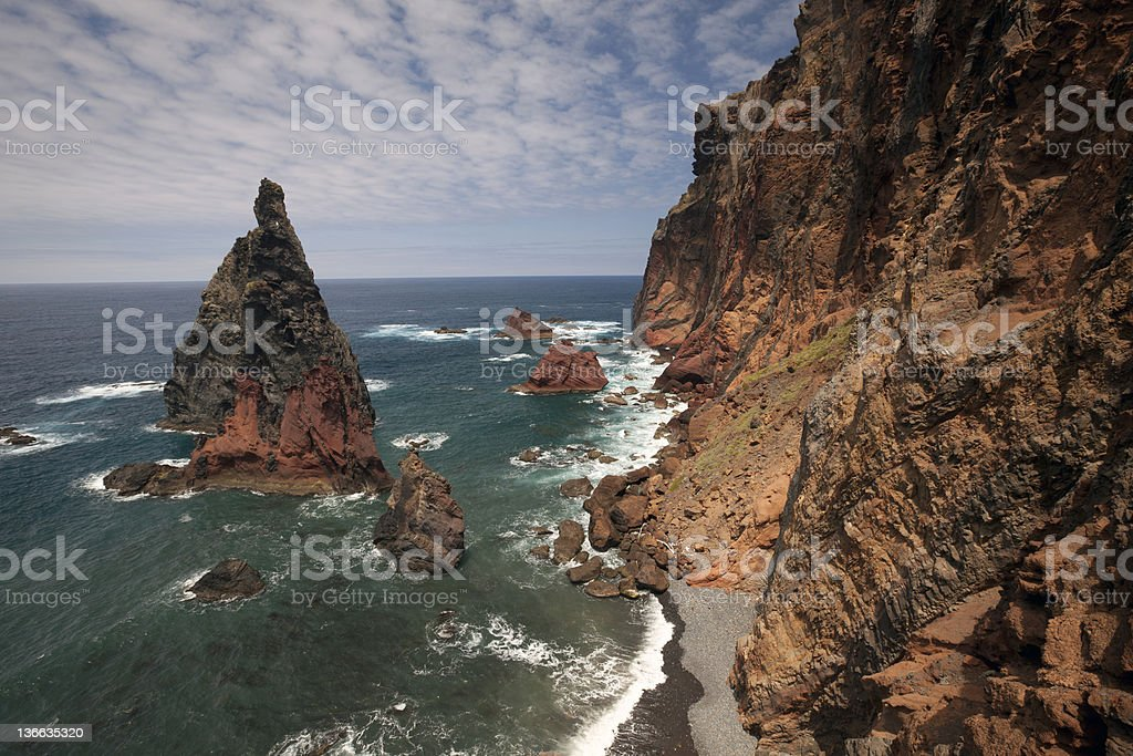 Sea scenery with a rock royalty-free stock photo