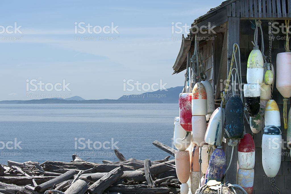Sea Shack by the Seashore stock photo