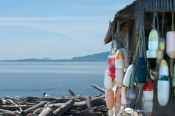 Sea Shack by the Seashore stock photo