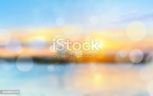 istock Sea shore horizon landscape illustration blurred  background. 540964228