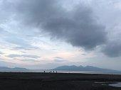 sea side, beach, evening, dawn, beautiful, sky, sands