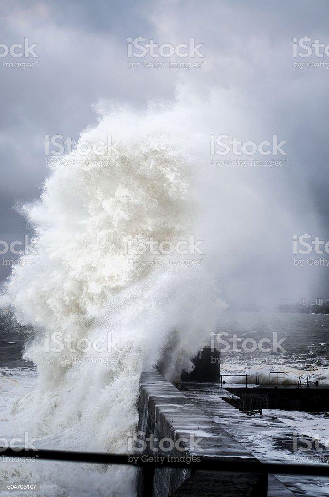 Sea spray royalty-free stock photo