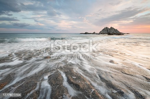 istock Sea stack at Sidonia village in southern Crete. 1277822204