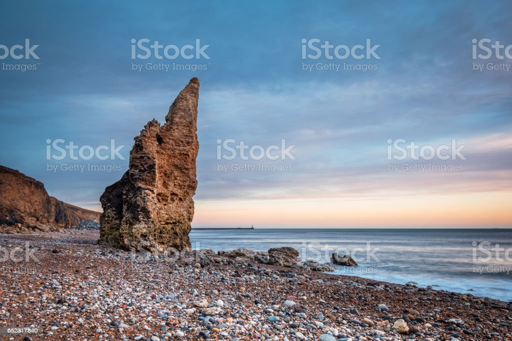 Sea Stack on Chemical Beach stock photo