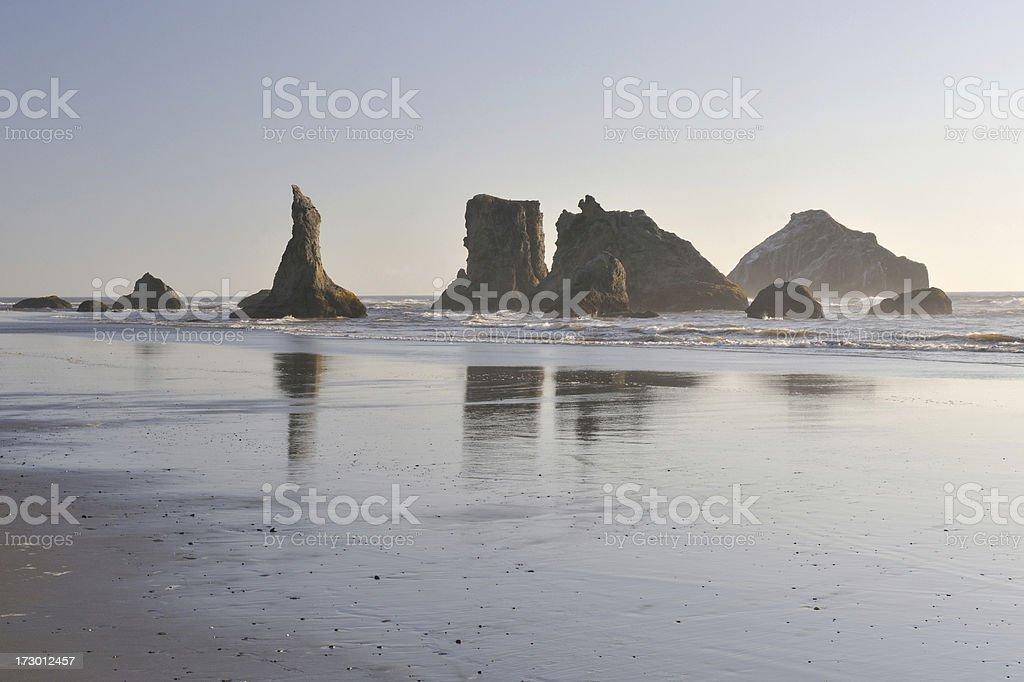 Sea Stacks at Oregon Coast stock photo
