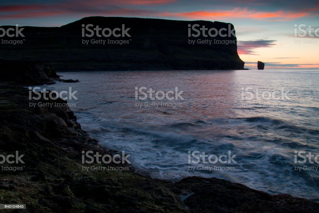 Sea stacks, Faroe Islands stock photo