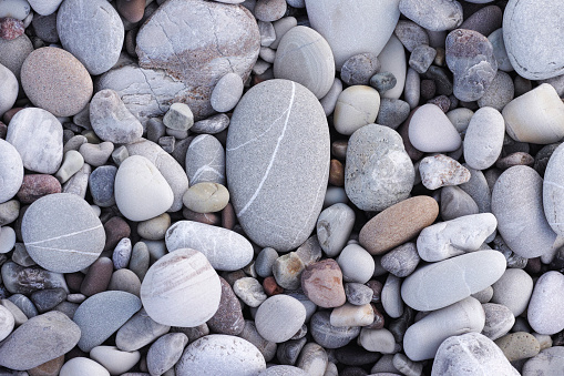Sea stone background. Pile of stones.