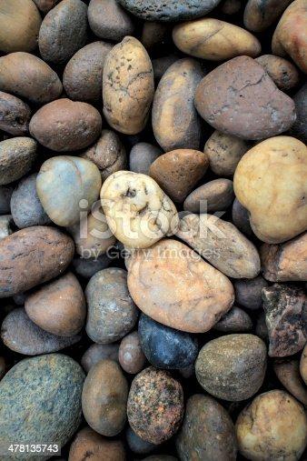 istock Sea stones background. 478135743