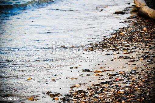 istock Sea stones background 492604634