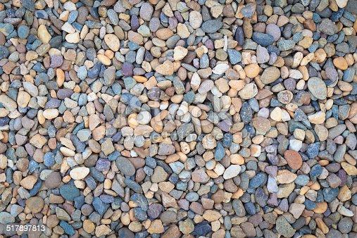 istock Sea stones background 517897813