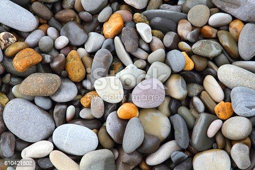 istock Sea stones background 610421502