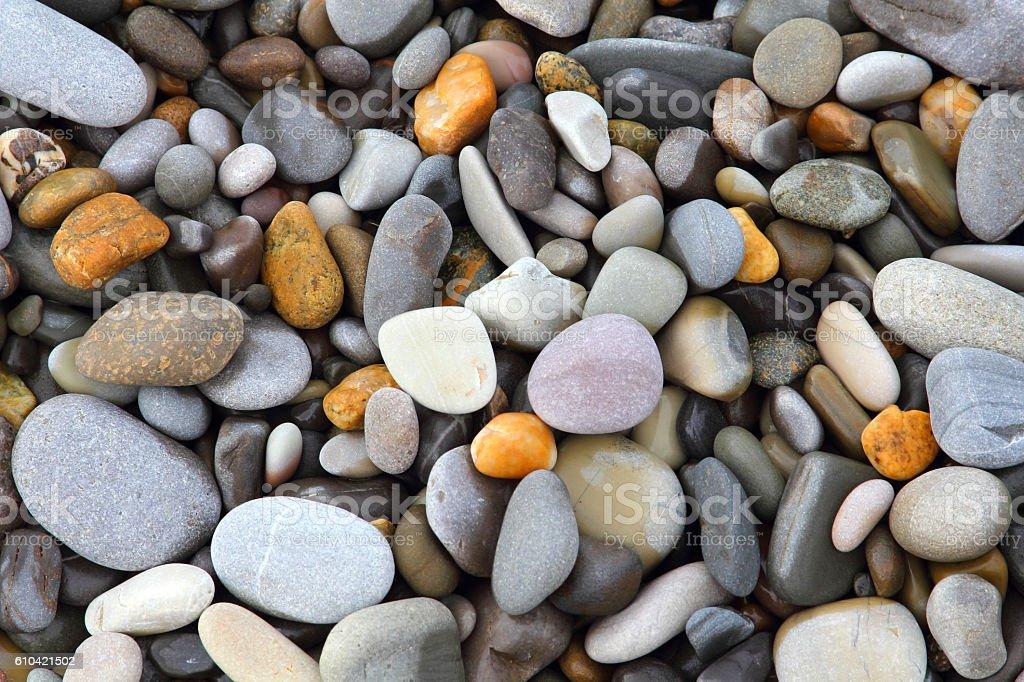 Sea stones background stock photo