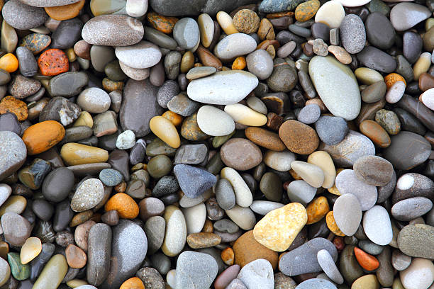 Sea stones background stock photo