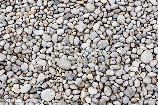 Sea stones. Pebbles. Nautical background. Texture nature background from sea pebbles.
