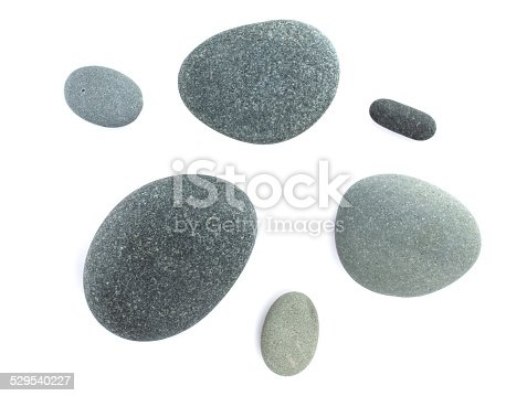 Sea stones. Isolated on white background
