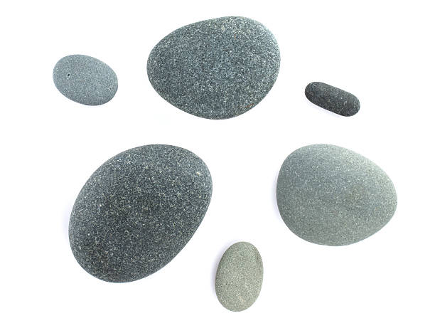 Sea stones Sea stones. Isolated on white background rock object stock pictures, royalty-free photos & images