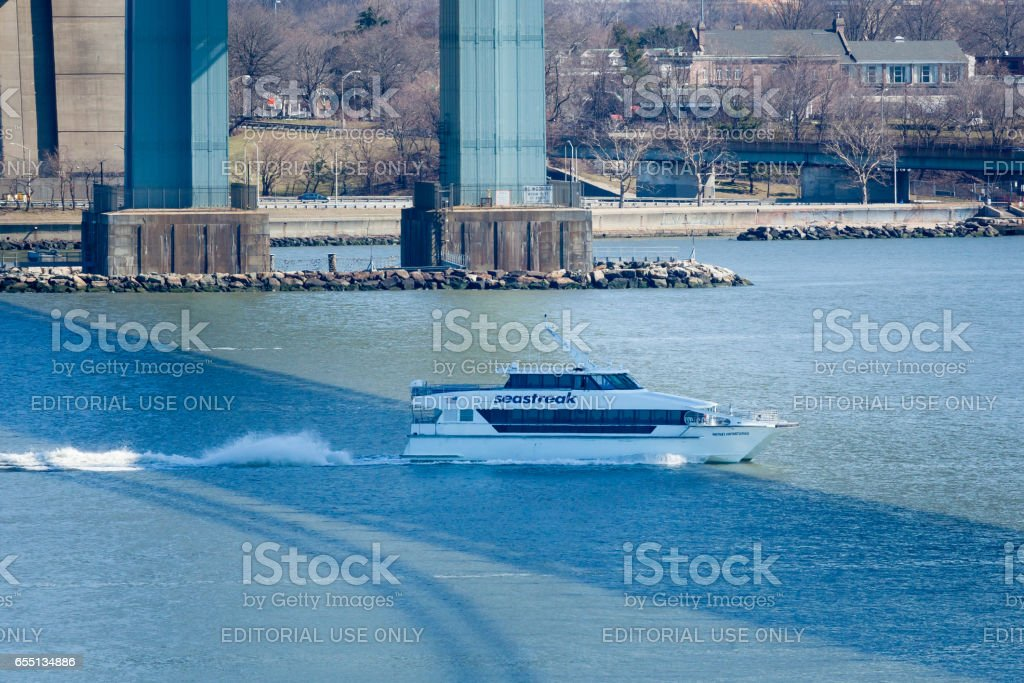 Sea Streak Ferry stock photo