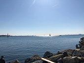 Sea, summer, boat, sailing, blue, Istanbul, Turkey