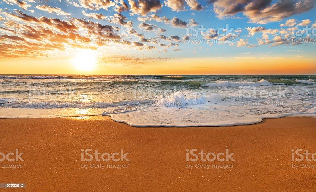 Sea sunrise. stock photo