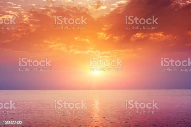 Photo of Sea sunset landscape