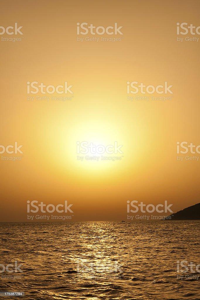 Sea sunset landscape royalty-free stock photo