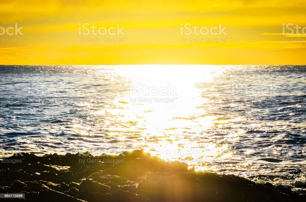 Sea sunset royalty-free stock photo