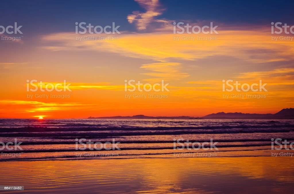 Sea sunset royalty-free stock photo