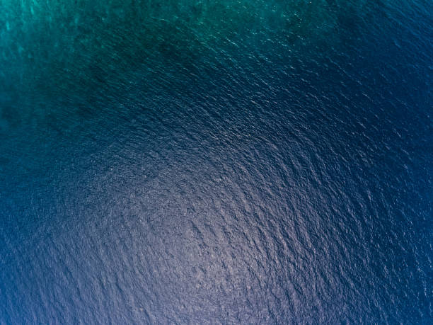 Sea surface Blue sea surface aerial view shallow stock pictures, royalty-free photos & images