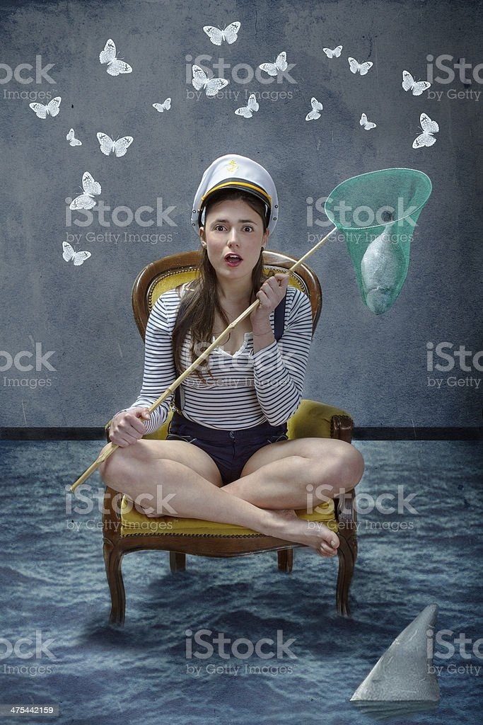 sea survival metaphor stock photo