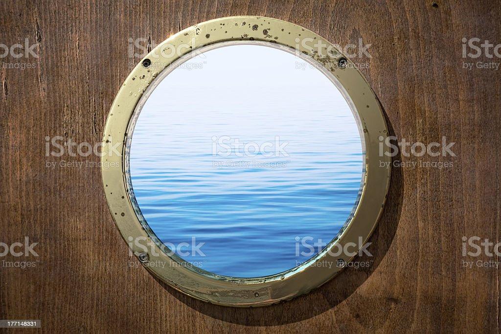 Sea Through Porthole royalty-free stock photo
