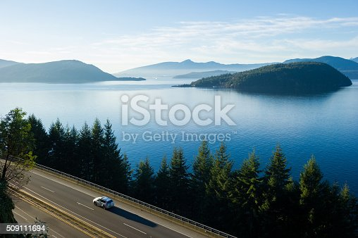 Sea to Sky Highway (Highway 99) from Vancouver to Whistler in British Columbia, Canada