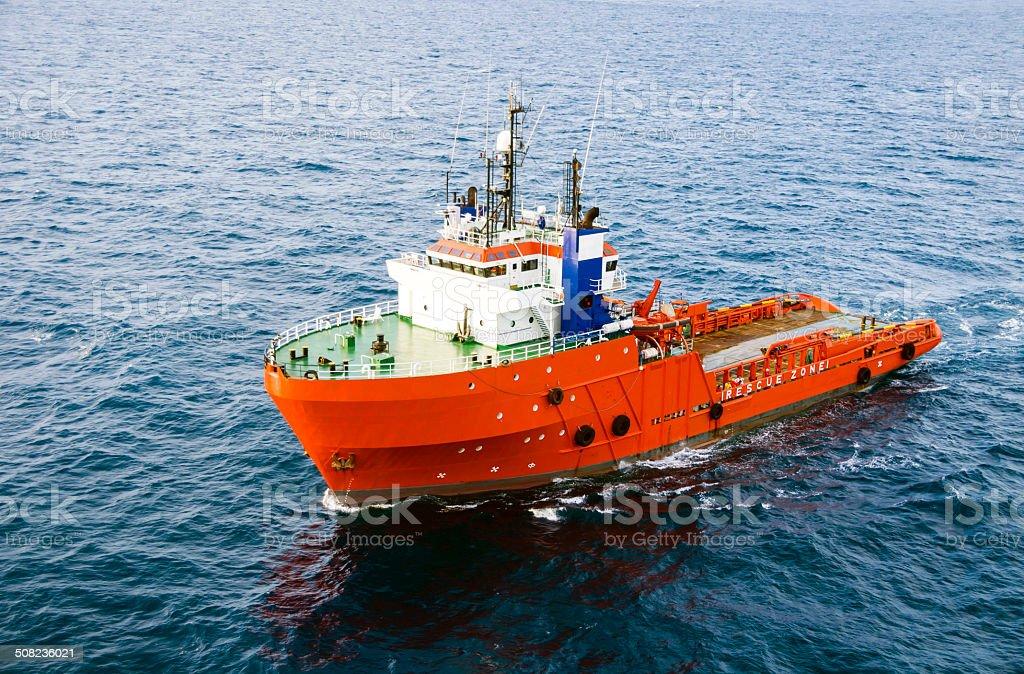 Sea tow of supply stock photo