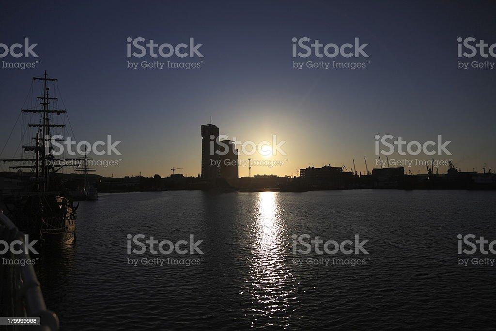 바다빛 타워수 in 그디니아 슈체친 royalty-free 스톡 사진
