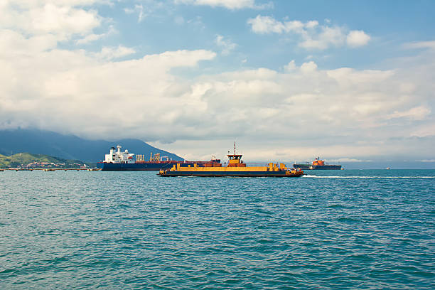 Sea transports stock photo