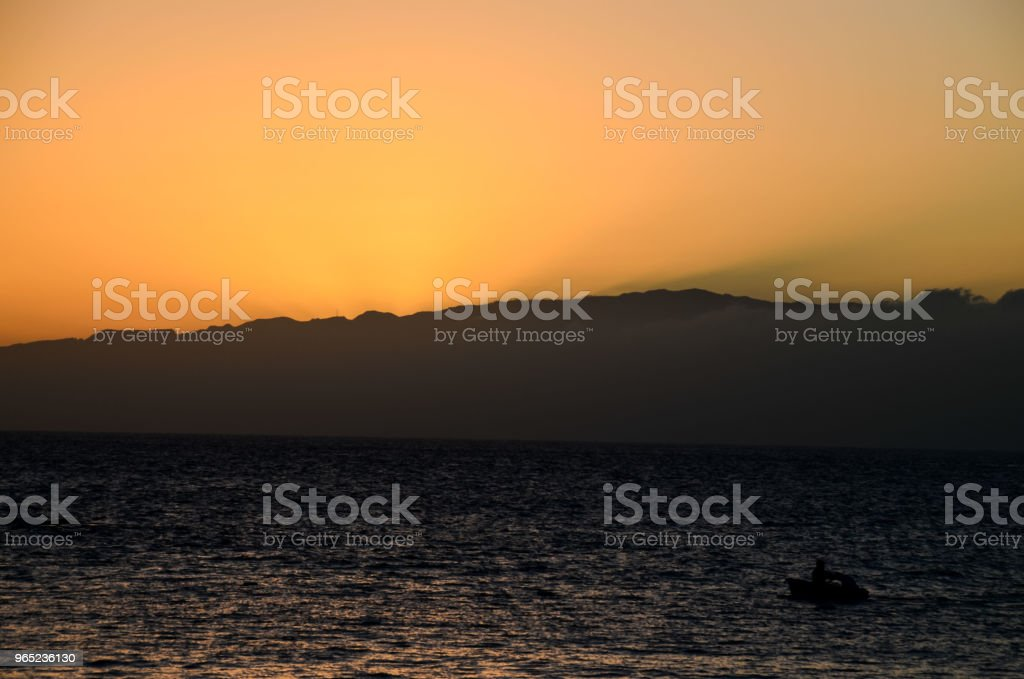 Sea Tropical Sunset royalty-free stock photo