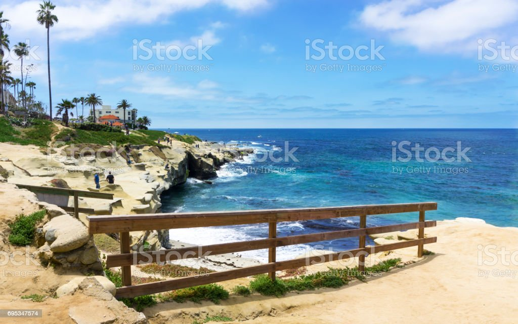 Sea view at La Jolla California stock photo