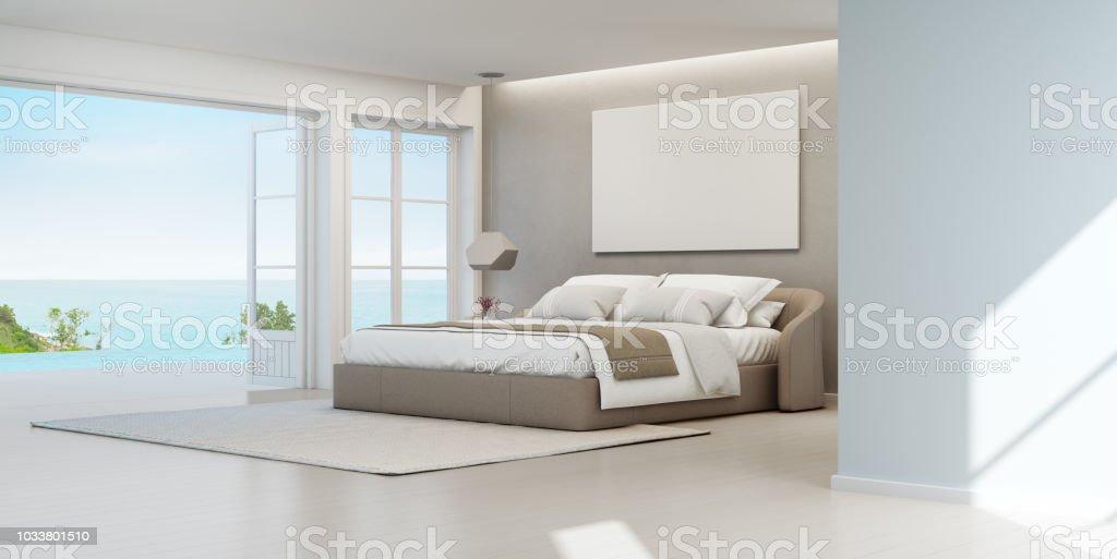 Verwonderlijk Zee Uitzicht Slaapkamer Van Luxe Zomerhuis Strand Met QJ-43
