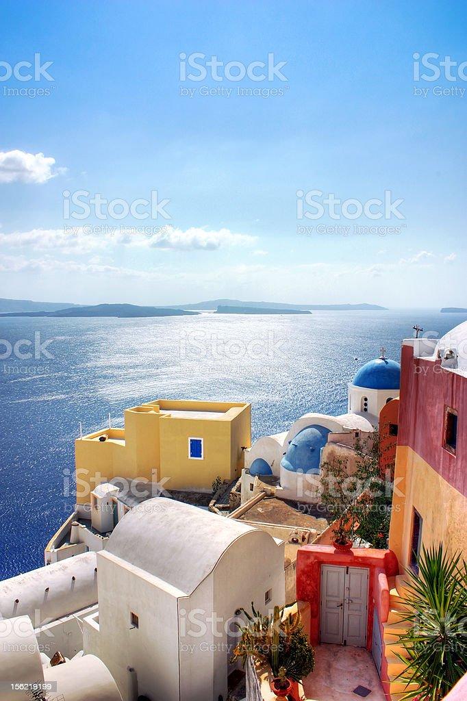 Sea view from Santorini, Greece royalty-free stock photo
