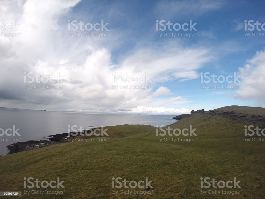 Sea view from the hill stock photo