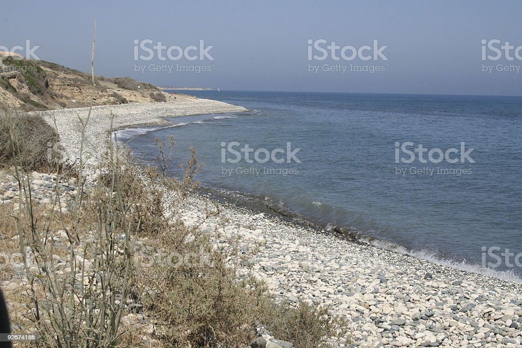 Sea view from the hill royalty-free stock photo